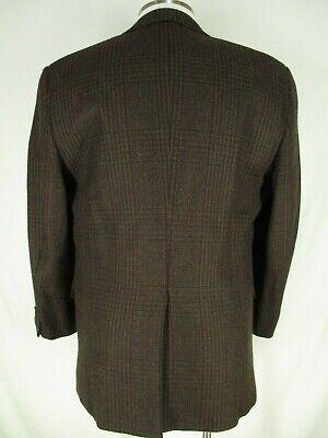 Hickey Freeman VSSC Brown Plaid 2 Btn Lambswool Tweed Sport Coat 42R USA Made 2