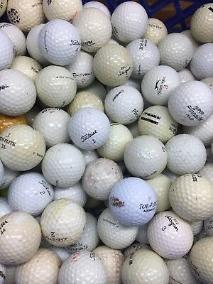 100 Hit-Away Shag Practice Range Used Golf Balls 2