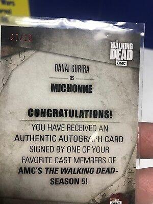 Walking Dead Season 5 Autograph Card Danai Gurira as Michonne Sepia 09/10 6
