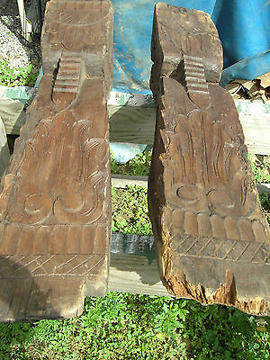 Pr B Pacific Island Hand Carved Corbels Antique shrine Home Architectural Salvag 6