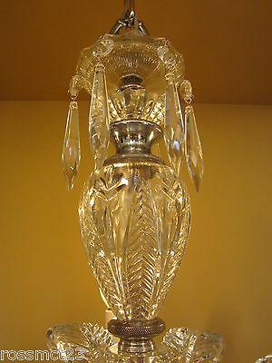 Vintage Lighting 1940s crystal chandelier 4
