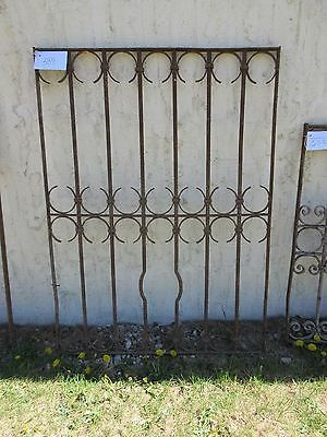 Antique Victorian Iron Gate Window Garden Fence Architectural Salvage Door #389 5