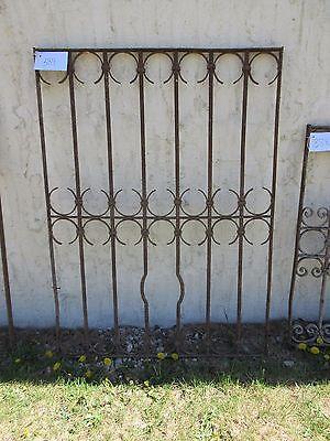 Antique Victorian Iron Gate Window Garden Fence Architectural Salvage Door #389 5