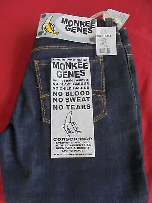 "BOYS SKINNY ""MONKEE GENES"" . WAIST 27 inches INSIDE LEG 32 inches. NEW WITH TAG 4"