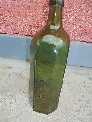 27729 Glasflasche Heinrich Feilner Hof i. B vor 1900 25cm vint Bottle mouthblown 2