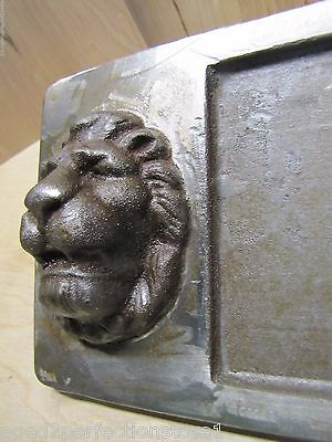 Old Double Lions Head Architectural Building Number 'Thirty Five' Marker Sign 5