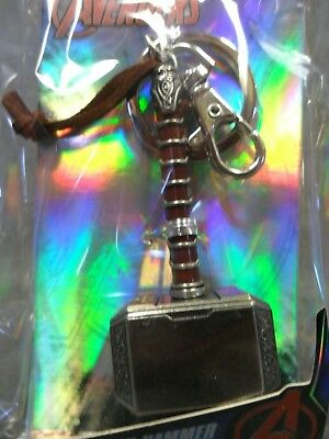 Thor Hammer Pewter NEW * Mjolnir Key Chain * Ragnarok Dark World Keychain 3