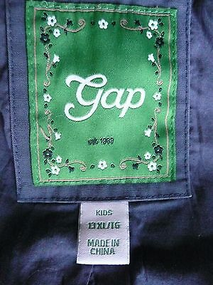 GAP Girls Washed Blue fully lined double breasted Swing Style jacket coat XL13 2
