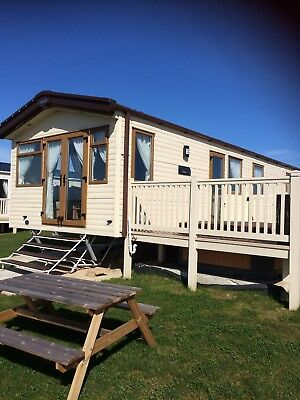 Static Caravan For Hire with private 'hot tub' at Sand Le Mere holiday village. 2