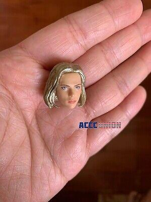 """1/12 Scarlett Johansson Head Sculpt Hands Set For 6"""" TBLeague T01 Female Doll 3"""