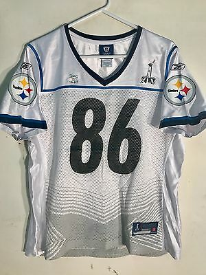 3c57a108 REEBOK WOMEN'S NFL Jersey Pittsburgh Steelers Hines Ward White Super Bowl  45 S