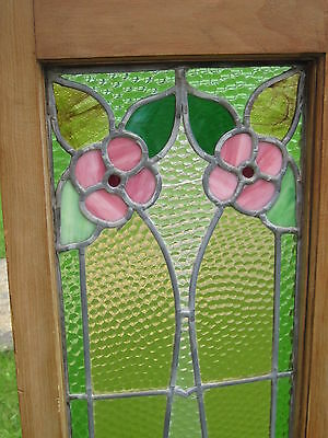 Set Of 3  Antique Victorian Stained Glass Window Transom Ans Side Door Architect 7