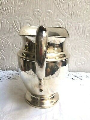 Vintage Mid Century PSCO Preisner Silver Co. Silverplate On Copper Water Pitcher 7