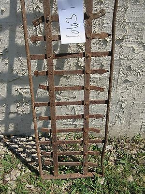 Antique Victorian Iron Gate Window Garden Fence Architectural Salvage Door #663 2