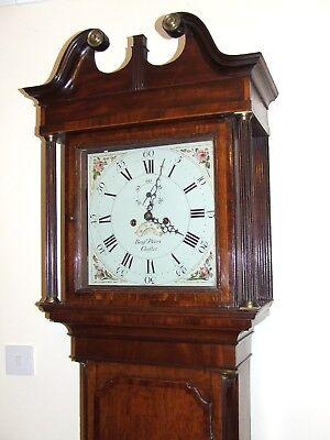 ~ Antique Oak & Mahogany Grandfather Longcase Clock BENJAMIN PEERS CHESTER 3