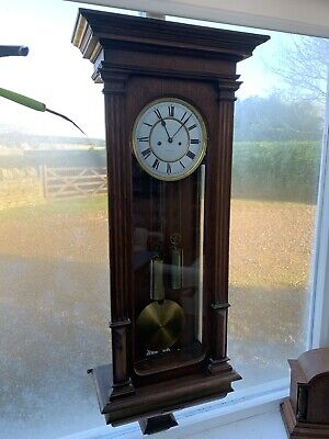 "Antique Double Weight Vienna Regulator Wall Clock by Lenzkirch ""1 Million"" Stamp 2"
