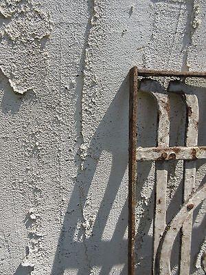 Antique Victorian Iron Gate Window Garden Fence Architectural Salvage Door #643 4