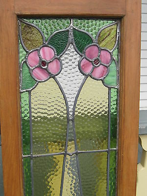 Set Of 3  Antique Victorian Stained Glass Window Transom Ans Side Door Architect 10
