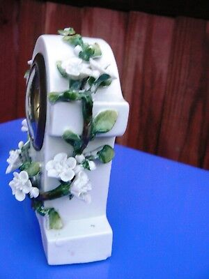 Antique Late Victorian Ceramic Table Clock Set 5