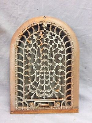 Antique Cast Iron Arch Decorative Heat Grate Register Stars 8X12 Dome Vtg 28-19C 5