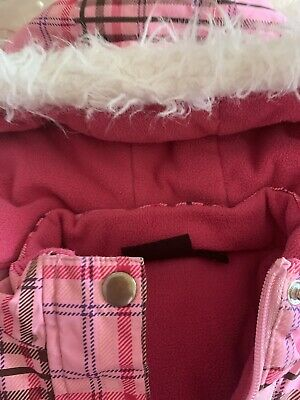 Girls Jacket Pacifictrail Pink Padded. Detatchable Hood Aged 4-5 3
