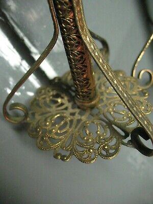Vintage   Arabesque  Candlesticks    Filigree  Ornate  Hand Made Artisan Craft 3