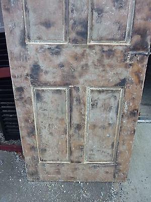 "Early 19th century RAISED panel door w/ SMOKED design decor 76 x 30 x 1 7/16"" 4"