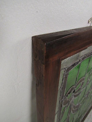 Vintage Stained Glass Ribbon Hanging Window (1265)NJ 8