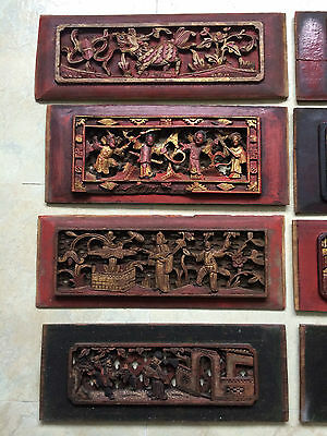 Rare Antique Chinese Wood Panel Lot (8pcs) Collectible Pieces!!! One of kind!!!