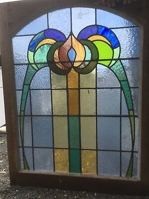 Old Leadlight Windows Australian Antique Fixed Panel 5