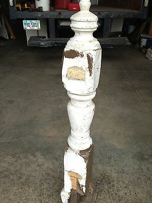 Antique Wooden No Post Turn-Of-The-Century
