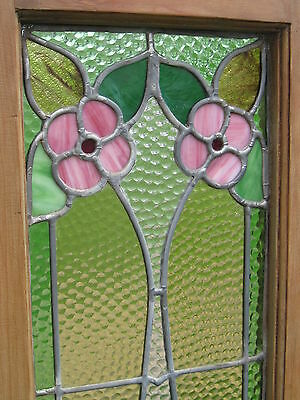 Set Of 3  Antique Victorian Stained Glass Window Transom Ans Side Door Architect 12