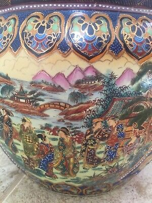 Plantar/ Fishbowl - Hand Painted Vintage Chinese Porcelain 2
