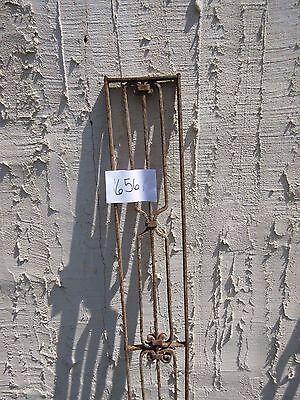 Antique Victorian Iron Gate Window Garden Fence Architectural Salvage Door #656 3