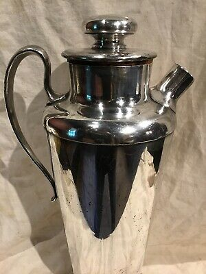 Meriden International Silver Plate No 314 Cocktail Shaker 56 Ounce Art Deco Era 7