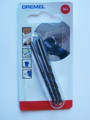 DREMEL 561 Spiral Cutting Bits Multipurpose 561 PACK OF 3 Dremel 26150561JA 4