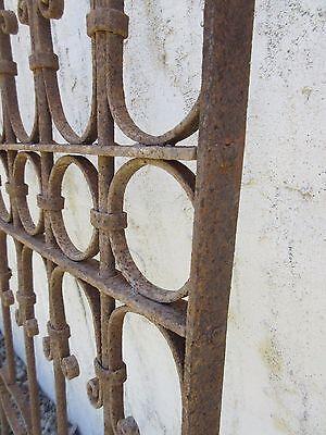 Antique Victorian Iron Gate Window Garden Fence Architectural Salvage Door #381 6