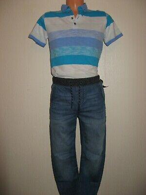 New Tagged Boys Next Cuffed Waist Pull On Skinny Leg Jeans & Next T-Shirt Age 11 2