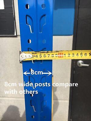 New 2M Garage Warehouse Steel Storage Shelving Shelves Racking Racks Blue 5