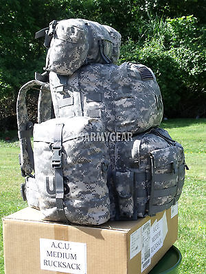 $259 Fully Loaded Molle ACU Medium Rucksack Military Backpack Hydration Pouches 8