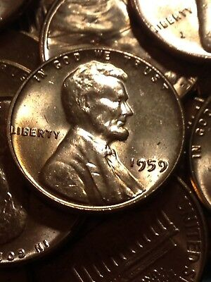 1959 1C RD Lincoln Cent Brilliant Uncirculated #070218 4