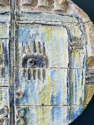 Medio Siglo Modernista Cara Pared Escultura, Atribuido a Maurice Calka 5