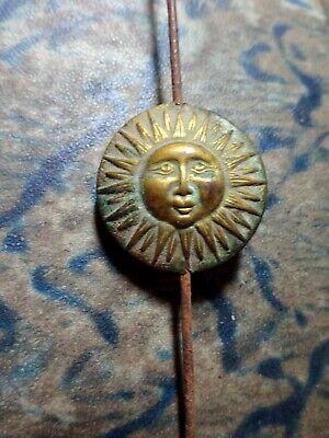 A Unique and Rare Continental Mantel Clock Pendulum Brass Sun Face Antique 3