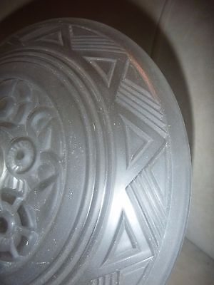 Art Deco Lightshade   Opaque Glass   See Hand For Scale 4