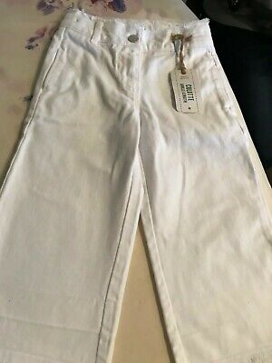 Next - Girls Ankle Length WHITE Culottes (5 years) Adjustable Waist NWT £13 3