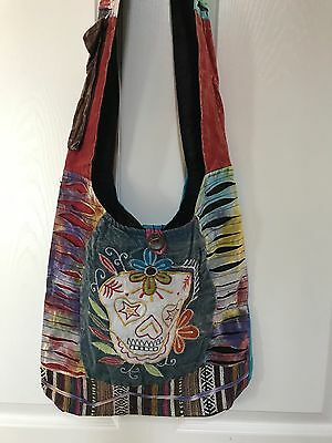 Hippie Cotton Boho Purses Nepali handmade Tie dye Random ❤️1 PC Nepal Hobo Bag