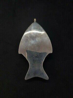 Rare Fish Vingate Pendant With Beautiful Black Agate Stone # W1 5