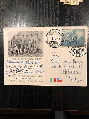 Cai Monza - 1963 Spedizione Alle Ande Patagoniche - Chile - Cartolina Autografa 2