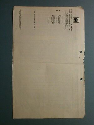 1953 Fire Insurance Policy A. B. Brassard, 37 King George Avenue, Haifa, Israel 3