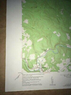 Mahaffey Pa. Clearfield Co USGS Topographical Geological Survey Quadrangle Map 4